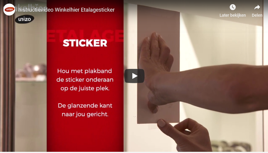 instructievideo Winkelhier etalagesticker