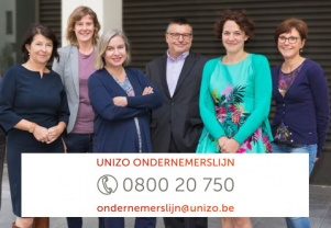 UNIZO ondernemerslijn - 0800 20 750